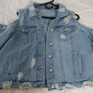 Distress  jean jacket